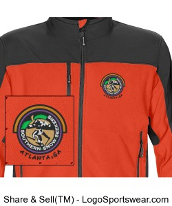 Mens Softshell Jacket Orange Design Zoom