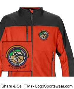 Womens Softshell Jacket Orange Design Zoom